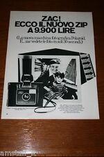 AF11=1972=POLAROID LAND CAMERA ZIP=PUBBLICITA'=ADVERTISING=WERBUNG=