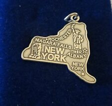 Sterling Silber 24x26mm New York State das Empire State Big Apple Albany Charme