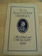 "Vintage 1930 ""MADAME TUSSAUD""~Official GUIDE & Catalogue~Elizabeth~"