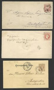 Hungary 1880-96 postal stationery unused (9)