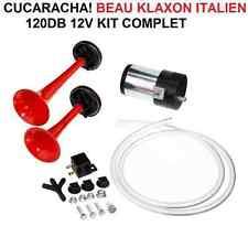 Cucaracha! Klaxon Italien 2 trompes 12V 120db! RAID 4X4 HDJ KDJ PATROL LAND JEEP