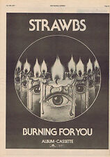 STRAWBS - BURNING FOR YOU large press clipping 1977 30x40cm (16/7/1977)