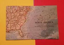 "RARE VINTAGE ""NORTH AMERICA & CENTRAL AMERICA POSTER SIZE MAP"" MEXICO US CANADA"