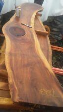 Exotic Hawaiian Monkeypod Acacia Wood Slab Furniture Table Bench Coffee Bar Top