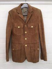 Burberry Suede Utility Jacket Blazer Size 40 R