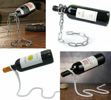 Funny Floating Iron Chain/Lasso Rope Wine Bottle Holder Display Racks Stand NEW
