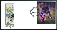 """Grenada Grenadinen 1998 """"Jahr des Tigers - Hologramm"""", MiNr Block 408 auf FDC"""
