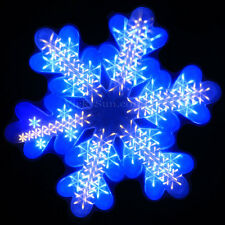 47CM 3D White and Blue LED Snowfall Function Snowflake Christmas Window Lights
