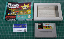 cannon fodder 1994 snes boxed tested super nintendo rare retro pal uk