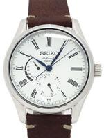 SEIKO PRESAGE SARW011 Prestige Line Automatic Enamel White Dial Leather Mens