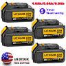 4x DCB206 20V 20 Volt Max XR 6.0Ah Li-ion Battery Pack For DeWalt DCB200 DCB205