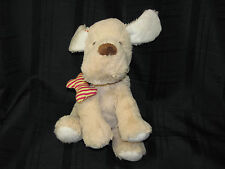 Maurices Tan Puppy Dog Plush Red Stripe Bone Collar 2012 Stuffed Animal Toy HOPE
