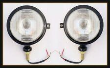 Ford Tractor Head Light Set (LH + RH) - 12 V Black