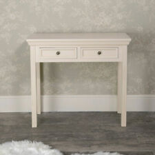 Cream 2 drawer console dressing table hallway bedroom living room home furniture