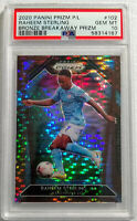 2020 Panini Prizm Premier League Raheem Sterling Bronze Breakaway /25 PSA 10