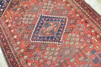 4'2 x 6'5 Fabulous Antique Tribal Hand Knotted Wool Area Rug Oriental Carpet