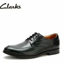 Clarks Corfield Apron Black Leather Men's Shoes Size UK 9G