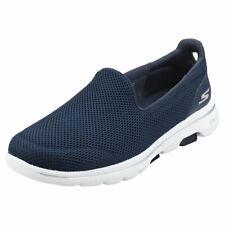 Skechers Go Walk 5 Womens Navy White Walking Shoes - 3 UK