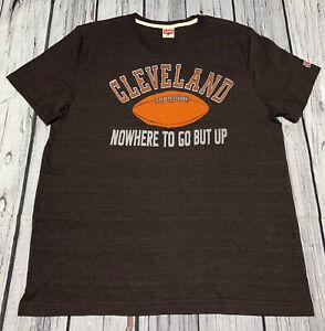 Homage NFL Cleveland Browns Brown T Shirt Mens T-Shirt XL Short Sleeve Light
