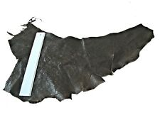 BROWN DISTRESSED FIRM LEATHER REMNANT  -- #2958 - CRAFTS, LARP, ELBOW PATCHES