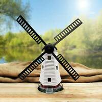 Outdoor Solar Powered Windmill Garden Ornament Wind Mill Light up