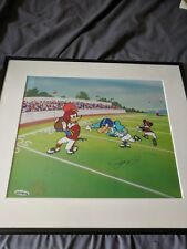 """Joe Montana """"First And Ten"""" Limited Edition Looney Tunes Lithograph"""
