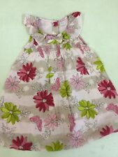 NEXT Baby Pink Pretty Sleeveless Lined 100% Cotton Dress Age 12-18 months