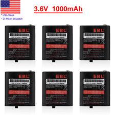 6 Pcs 1000mAh 2-Way Radios Battery 53615 For Motorola HKNN4002 T5920 T5950 MJ270