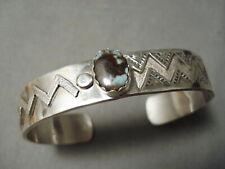 Important Vintage Navajo Dry Creek Turquoise Sterling Silver Bracelet