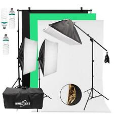Continuous Lighting Studio Photography Background Softbox 150W x3 Photo Video UK