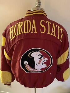 VTG Florida State FSU Seminoles Nutmeg Coat Jacket USA Rare Medium Campri 90's