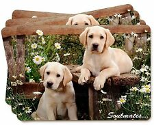 Yellow Labrador Puppy Dogs 'Soulmates' Picture Placemats in Gift Box, SOUL-36P
