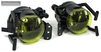 For BMW E90 E91 Pair of Yellow Fog Lights Foglights M Sport Fog Lamps Foglamps