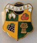 S.A.U.M.B.A Bowling Club Badge Fruit Design Rare Vintage (M3)
