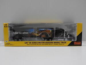 1:50 Cat Peterbilt M-Series Motor Graders Mural Truck Norscot 55225