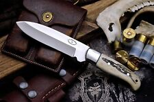 CFK Custom Handmade D2 VIKING VALKYRIE Scrimshaw Art Bone Skinning Hunter Knife