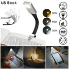LED Clip On Book Reading Light USB Rechargeable Flexible Book Reader Night Lamp