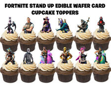 12 FORTNITE STAND UP Edible Birthday Cupcakes Cup Cake Cake Toppers Images SET 3