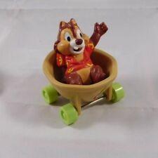 Disney Applause Chip & Dale Rescue Rangers PVC Toy W/ Wheels