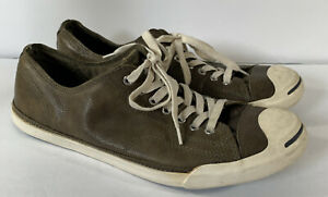 Converse - Jack Purcell Leather Brown Sneakers - Men's 12 - 119009 Low