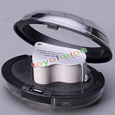 60X 30X glass magnifying magnifier jeweler eye jewelry loupe loop LED light