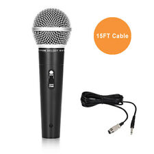 Professional Metal Dynamic Cardioid Performance Microphone with 15 Feet XLR to ¼