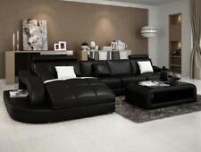 Designer Ecksofa mit Liege Couch Sofa Wohnlandschaft Ledersofa L Form Einstein