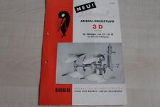 161033) Rabewerk Anbau Drehpflug - 3 D - Prospekt 04/1953