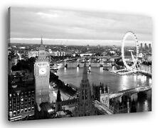Quadro Moderno LONDRA SKYLINE B/N Vari Formati Città Arredamento Stampa su Tela