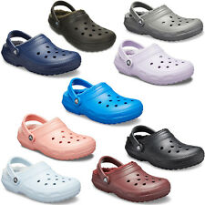 Crocs Classic Lined Clogs Unisex Winter Warm Comfort Mens Womens Fuzz Slippers