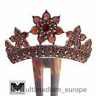 Jugendstil Steckkamm Granat Tombak Horn um 1900 antik comb antique 🌺🌺🌺🌺🌺