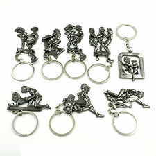 8 Set Naughty Moveable Keychain Keyrings Sexy Nude Lover Valentine c