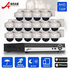ANRAN 16CH 1080N AHD Security DVR Kit 1800TVL Outdoor IR Dome CCTV Camera System