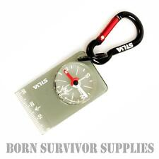 SILVA 28 CARABINER MICRO COMPASS Pocket Map Reading Emergency Keyring Bushcraft